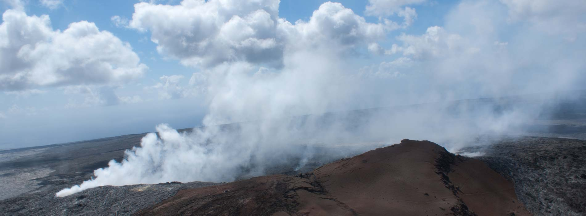 See beautiful eruptions at our lodging near Volcanoes National Park
